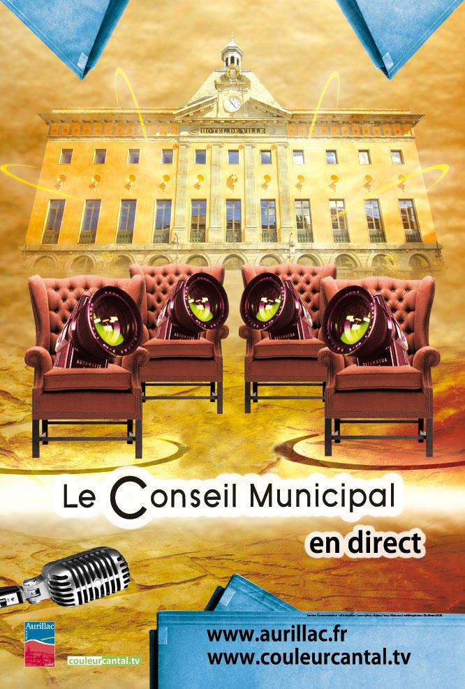 Aurillac : Séance du conseil municipal en direct