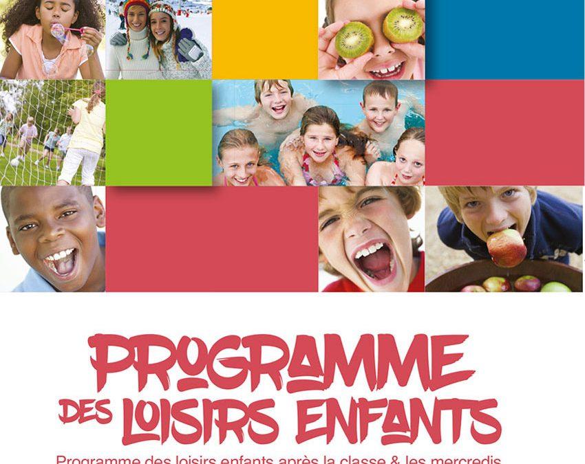 Programme des loisirs enfants après la classe & les mercredis / valable du 5 novembre au 21 décembre 2018