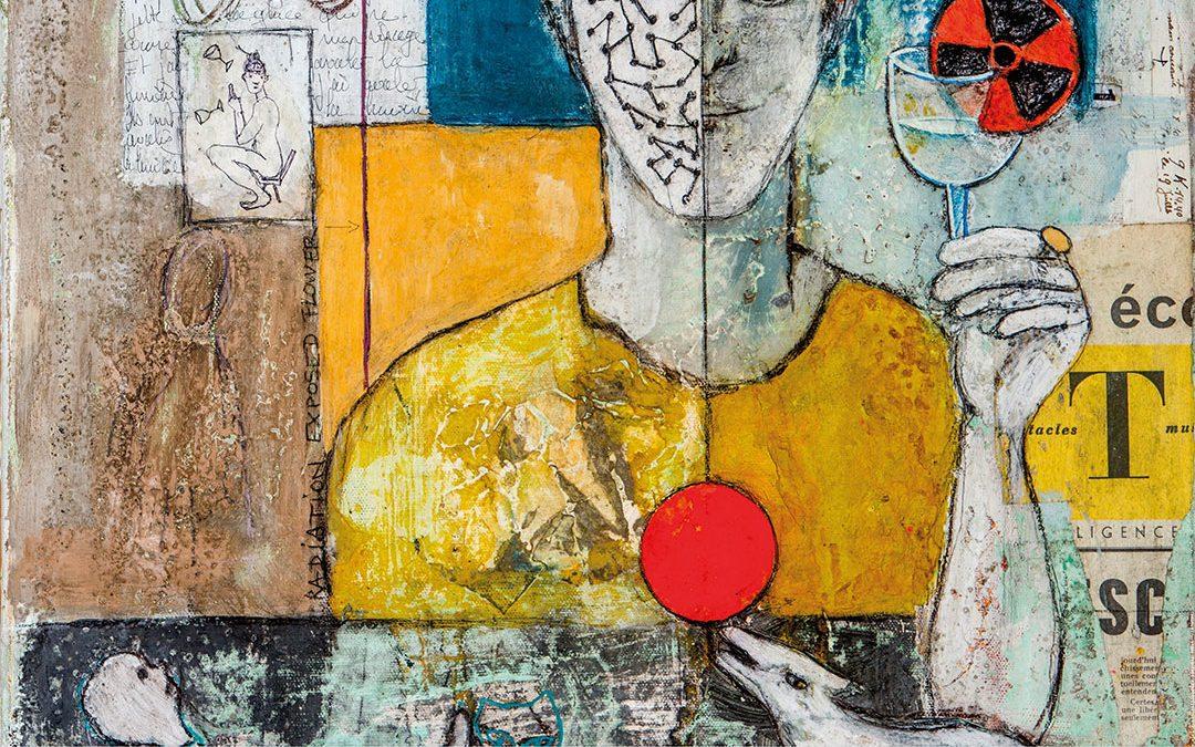 Exposition au Théâtre / peintures de Claudia Morand