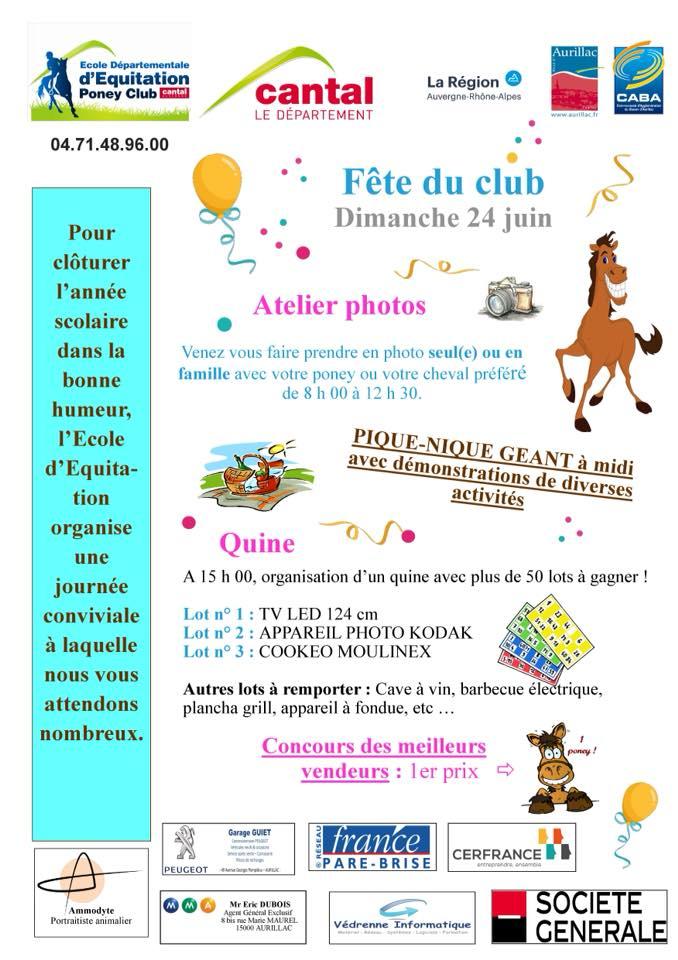 ECOLE DEPARTEMENTALE D'EQUITATION ET PONEY CLUB D'AURILLAC