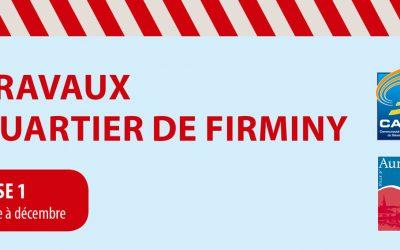 Quartier de Firminy / Travaux d'eau et d'assainissement