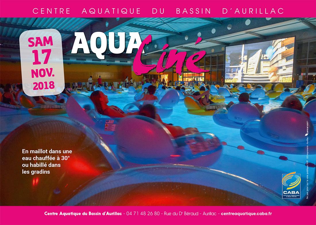séances aqua'ciné ! / centre aquatique du bassin d'aurillac • mairie