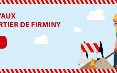 Travaux d'eau et d'assainissement Quartier de Firminy