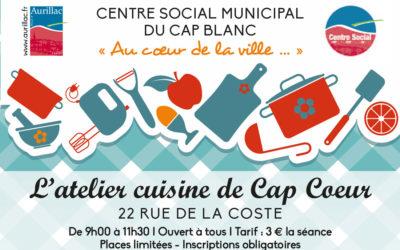 Atelier cuisine de Cap Coeur
