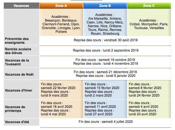 Calendrier Vacances Scolaires 2019 Nantes.Calendrier Scolaire Mairie D Aurillac