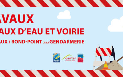 Travaux réseaux d'eau et de Voirie Lascanaux et Giratoire de la Gendarmerie