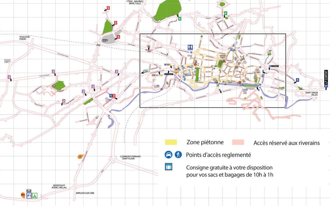 Plan de circulation pour le Festival de rue