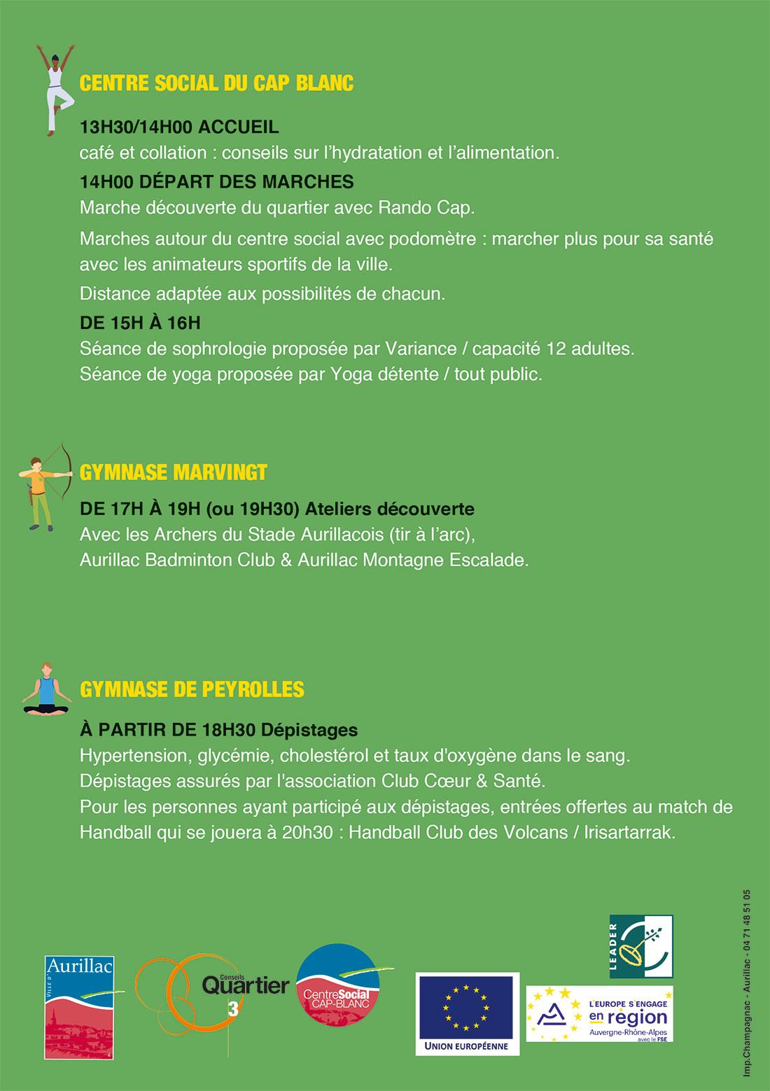 Aurillac : Quartiers Sport Santé