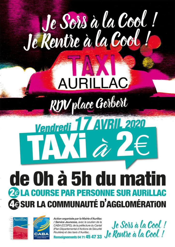 Aurillac : Opération Taxi à 2€