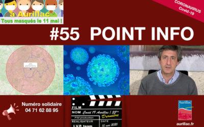 #55 Point d'information Pierre Mathonier maire d'Aurillac / dimanche 10 mai / COVID-19