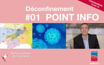 #01 Point d'information Déconfinement Pierre Mathonier maire d'Aurillac / mercredi 13 mai / COVID-19