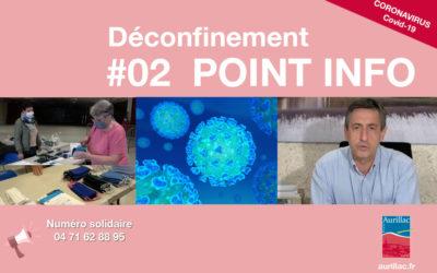#02 Point d'information Déconfinement Pierre Mathonier maire d'Aurillac / vendredi 15 mai / COVID-19