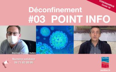 #03 Point d'information Déconfinement Pierre Mathonier maire d'Aurillac / mercredi 20 mai / COVID-19