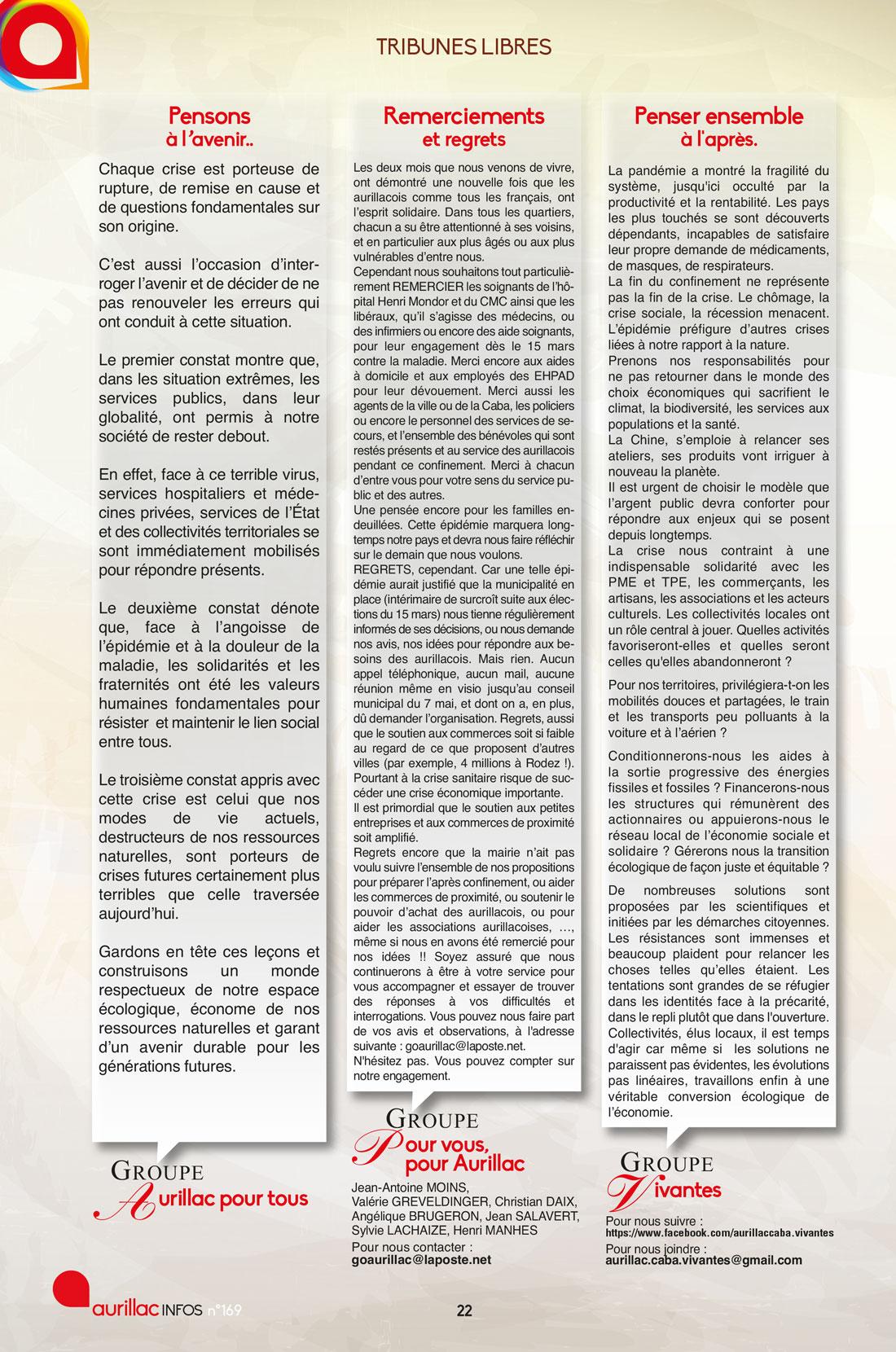 Tribunes Libres 169