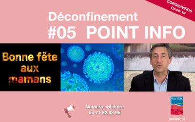 #05 Point d'information Déconfinement Pierre Mathonier maire d'Aurillac / vendredi 5 juin / COVID-19