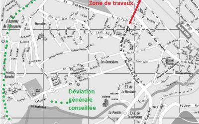 Travaux réseau de chaleur bois sur le boulevard de Lescudilliers