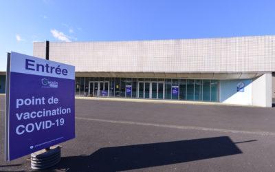 Centre de vaccination d'Aurillac au Prisme depuis le 8 avril