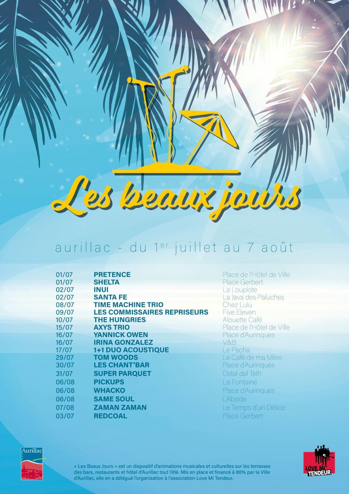 Aurillac : Les Beaux Jours / Concert avec Pickups