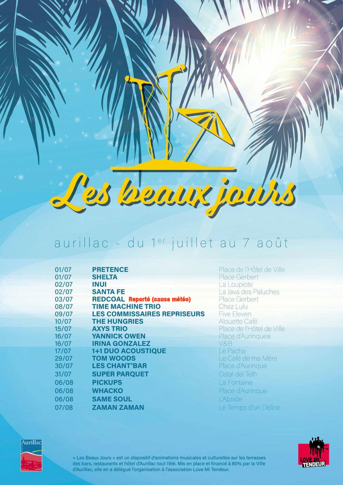Aurillac : Les Beaux Jours / Concert avec Axys Trio !! reporté au 5 août !!